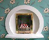 Quality Marble hole in wall fireplaces - free fitting