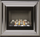IMAGE FLUELESS FIRE WITH CHROME TRIM,  flueless gas fires, flueless stove fires by Burley Fires, flueless plasma fires, flueless inset fires, flueless wall mounted gas fires