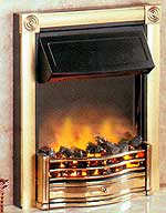 Horton in Brass Electric Fire by Dimplex