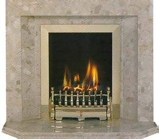 Marble HoIe in Wall fireplace designs inc Hot 4kw Crystal gas fire & fitting