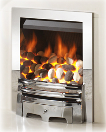 crystal gas fire