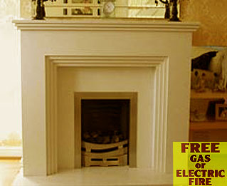 The Stepp marble fireplace