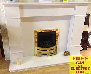 Brompton marble fireplace  Liverpool