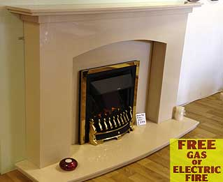 classic arch marble fireplace Liverpool