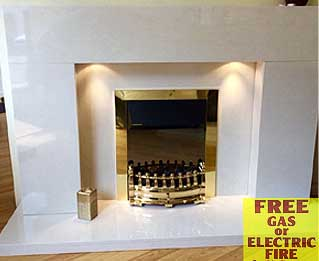The Strata marble fireplace  Liverpool