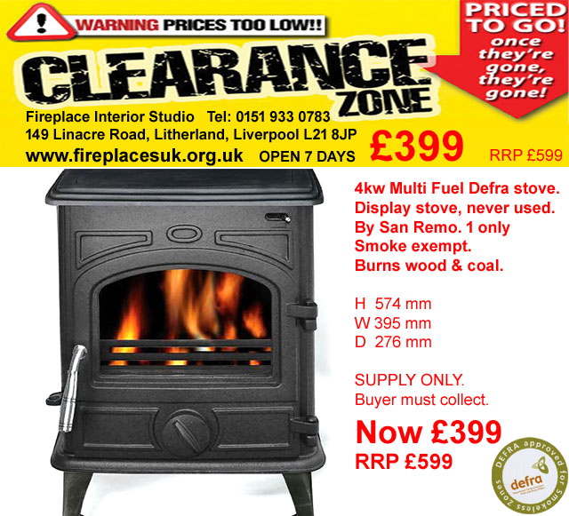 stoves to clear