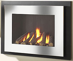 Manhatton glass fronted gas fire