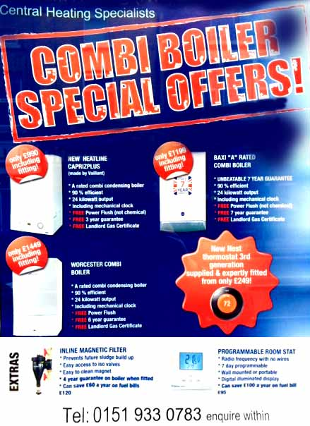 Central heating special offers poster